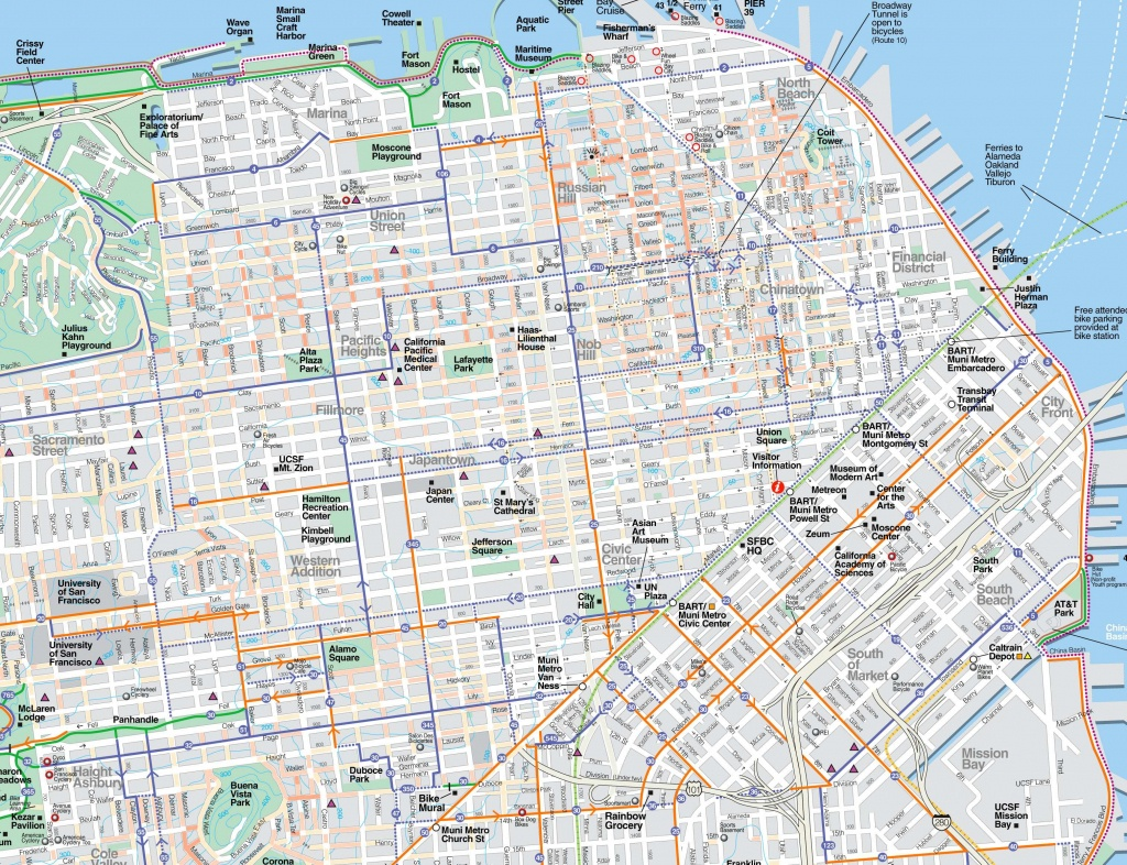 Large San Francisco Maps For Free Download And Print | High - Map Of San Francisco Attractions Printable