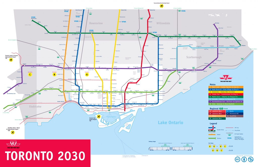 Large Subway Map Of Toronto – 2030. Toronto Large Subway Map - Toronto Subway Map Printable