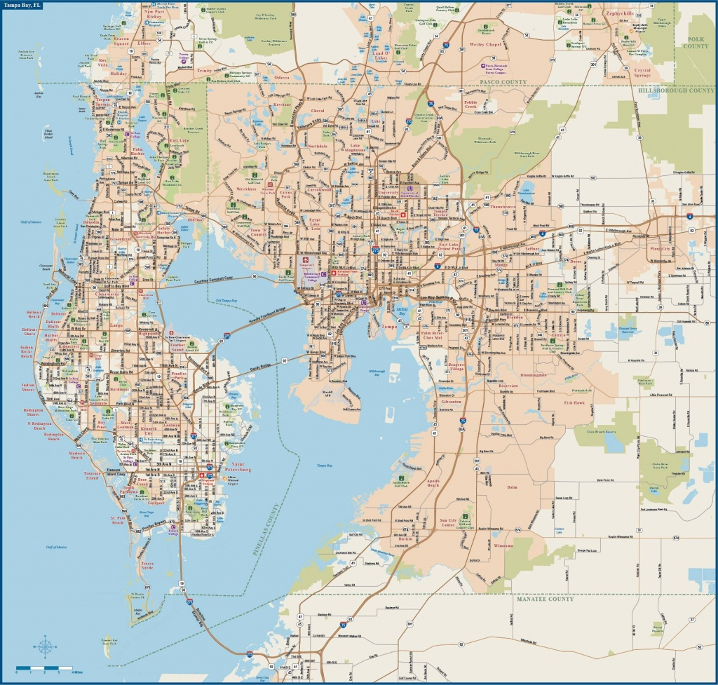 Large Tampa Maps For Free Download And Print | High-Resolution And - Google Maps Tampa Florida Usa