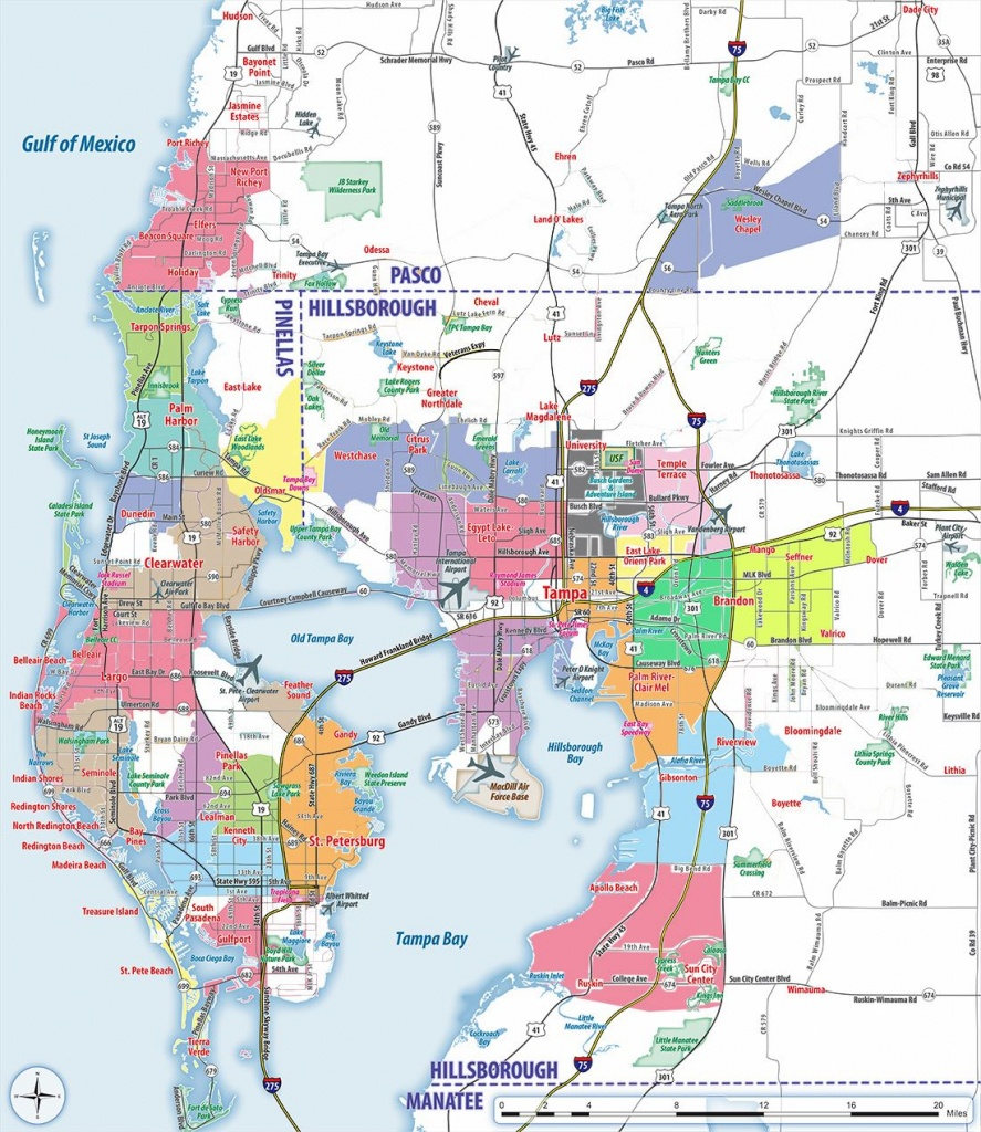 Large Tampa Maps For Free Download And Print   High-Resolution And - Street Map Of Tampa Florida