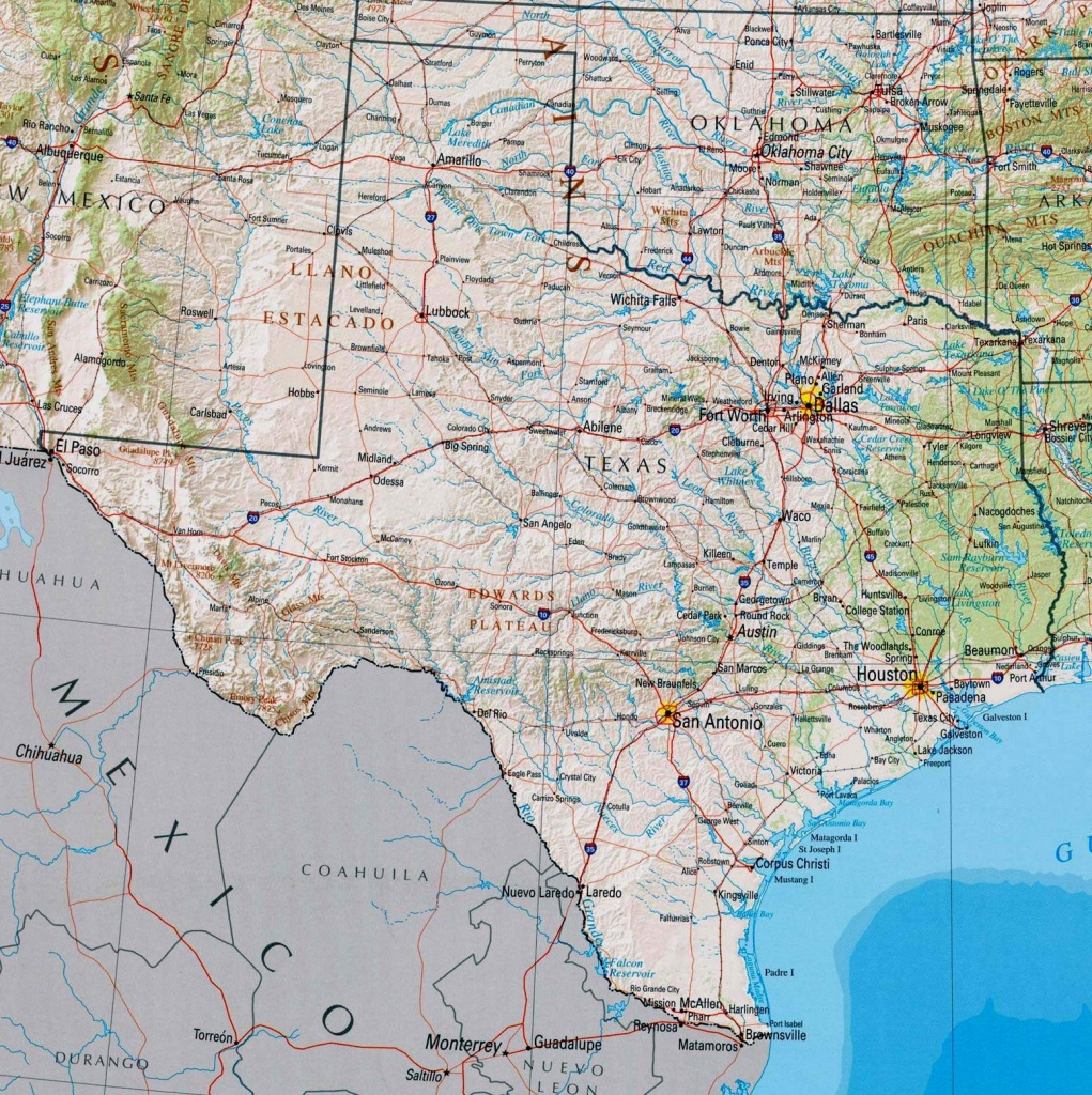 Large Texas Maps For Free Download And Print | High-Resolution And - Map Of Texas Showing Santa Fe