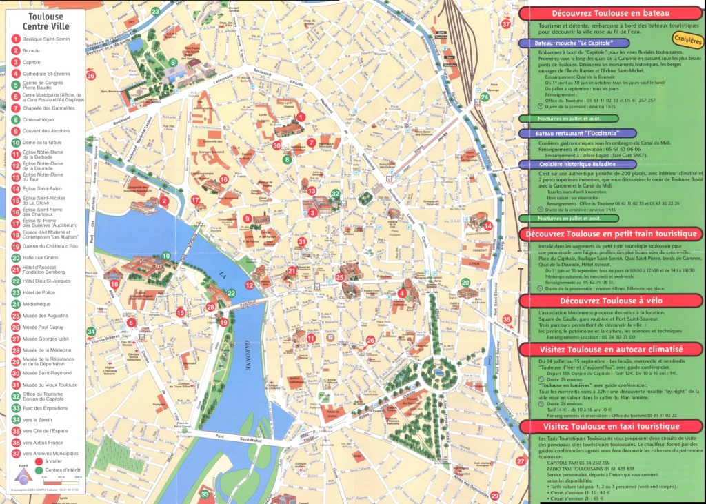 Large Toulouse Maps For Free Download And Print   High-Resolution - Printable Map Of Lille City Centre