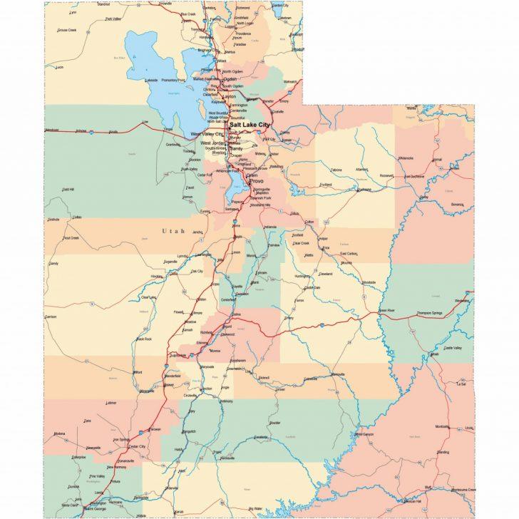 Utah Road Map Printable