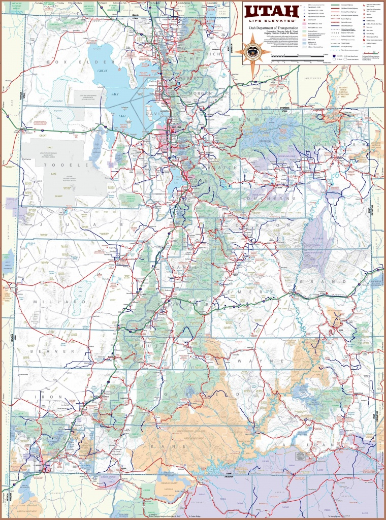 Large Utah Maps For Free Download And Print | High-Resolution And - Utah State Map Printable