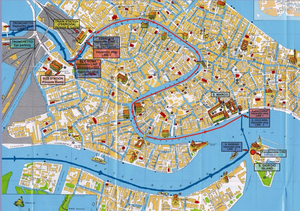 Large Venice Maps For Free Download And Print | High-Resolution And - Printable Walking Map Of Venice Italy