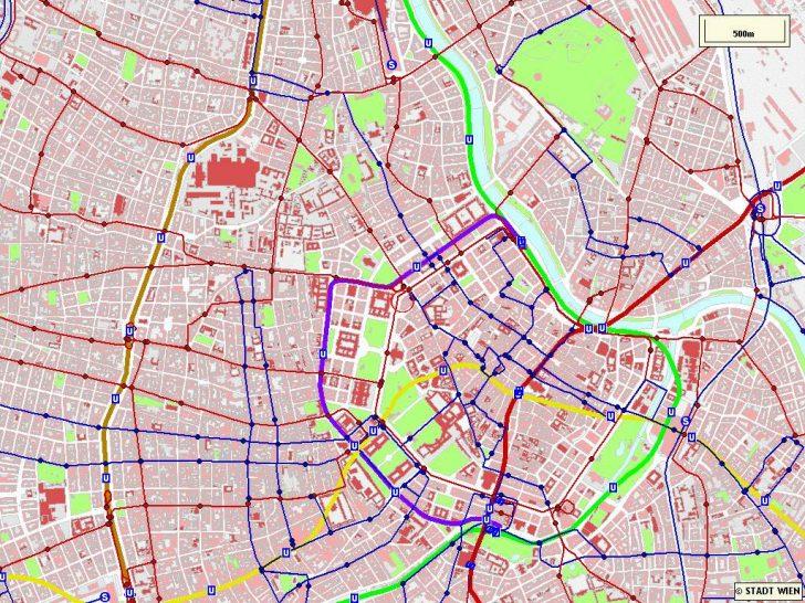 Printable Tourist Map Of Vienna