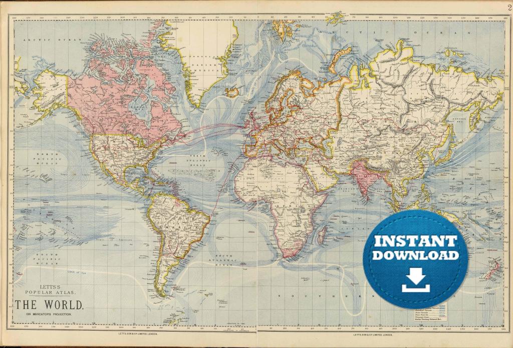 Large World Map Hd Hq Free Downloading 19 Downloadable Maps - Free Printable Large World Map Poster