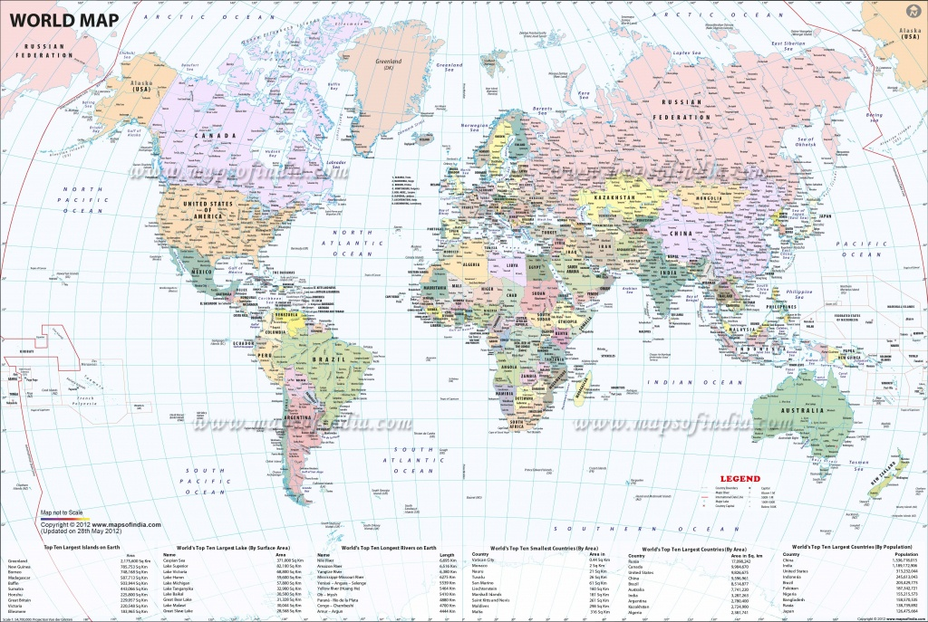 Large World Map Image - World Map With Capitals Printable