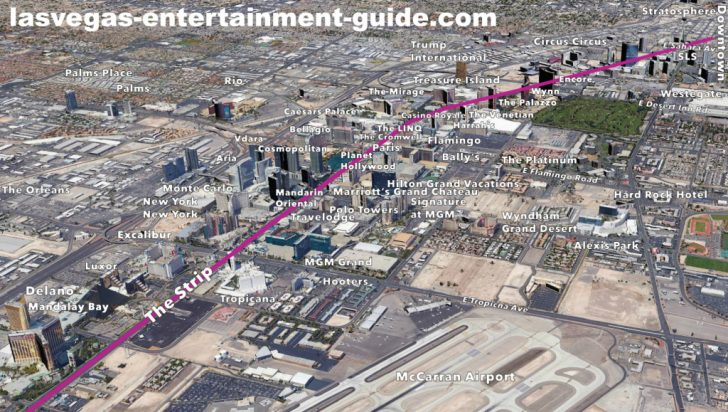 Map Of Las Vegas Strip Hotels Printable