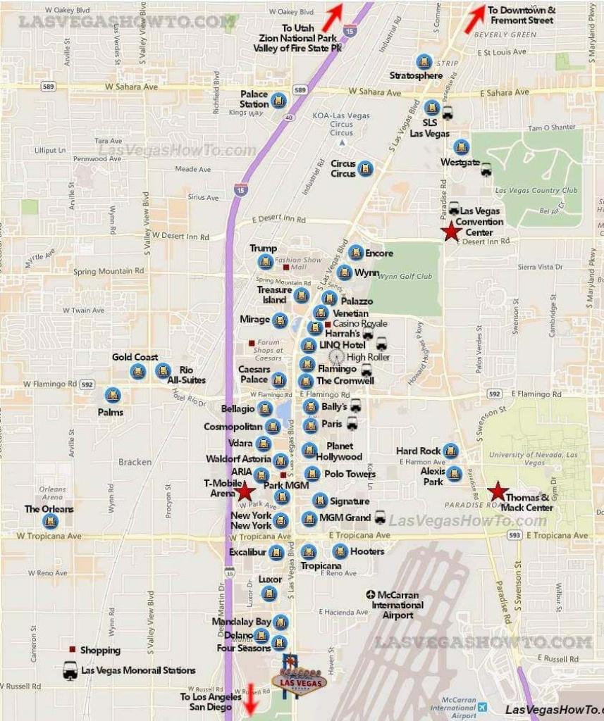 Las Vegas Strip Map (2019) | California, Etc. | Las Vegas Strip Map - Printable Las Vegas Strip Map 2017