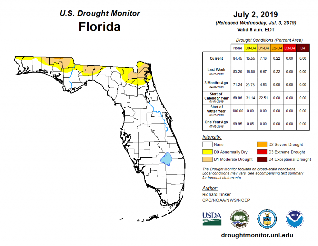 Latest Drought/rainfall Information - Florida Heat Index Map