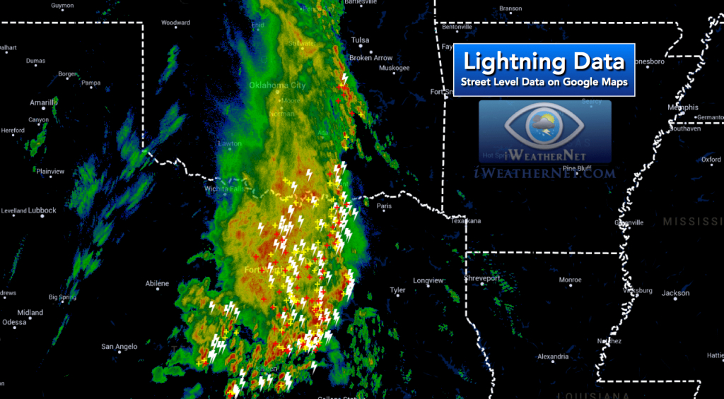 Latest Lightning Strikes On Google Maps – Iweathernet - Lightning Map California