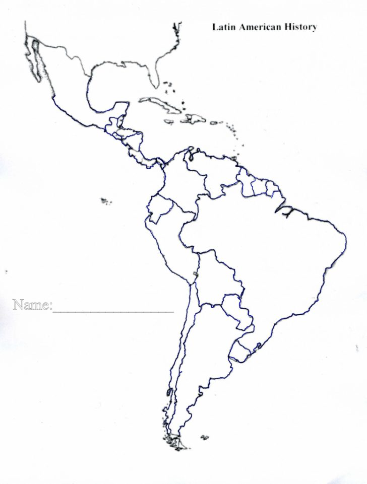 Printable Map Of North And South America