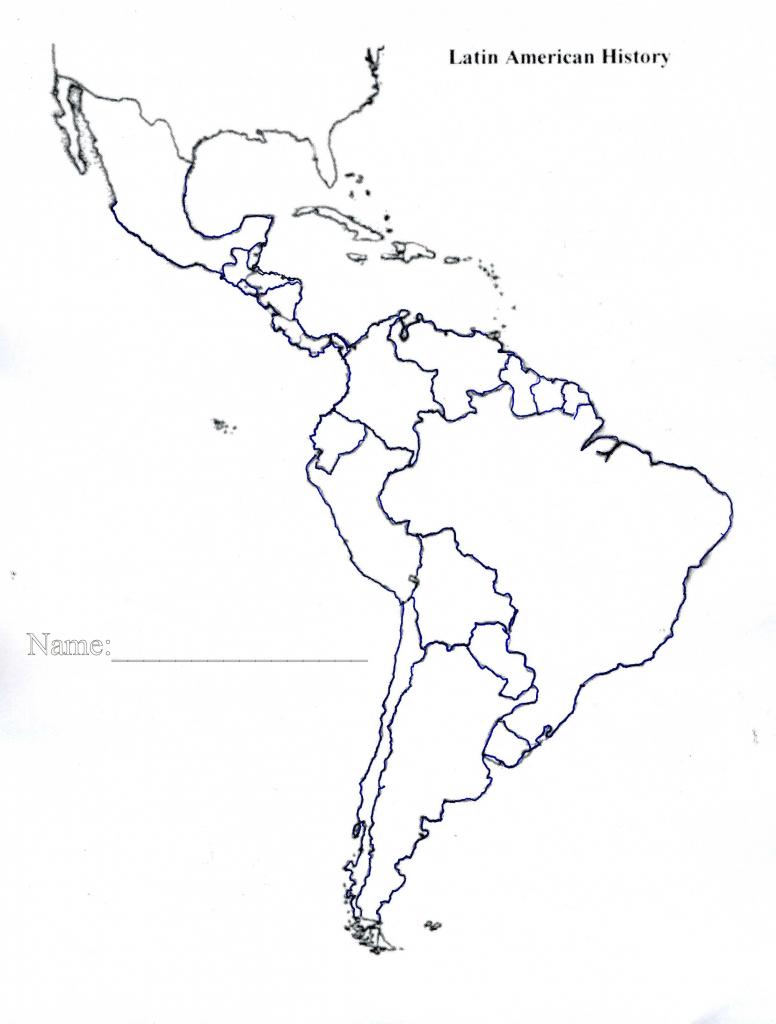 Latin America Map Quiz Printable Blank Of Us And South Central 7 - Latin America Map Quiz Printable