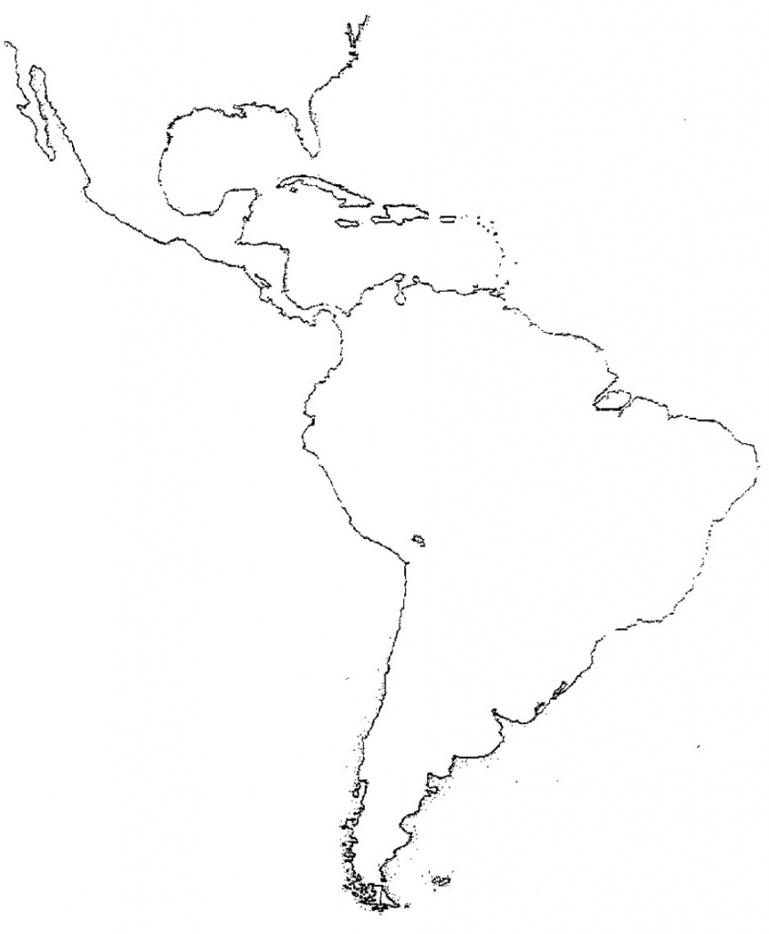 Latin America Map Study Central America Study Map Blank Map Sheet - Printable Blank Map Of South America
