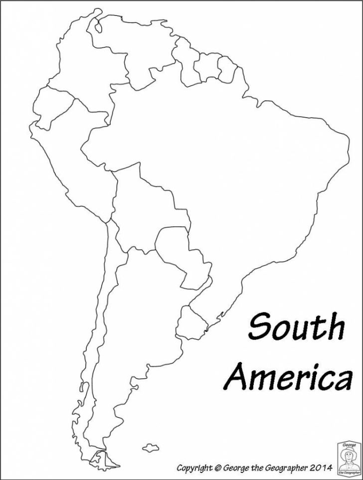 Blank Map Of Central And South America Printable