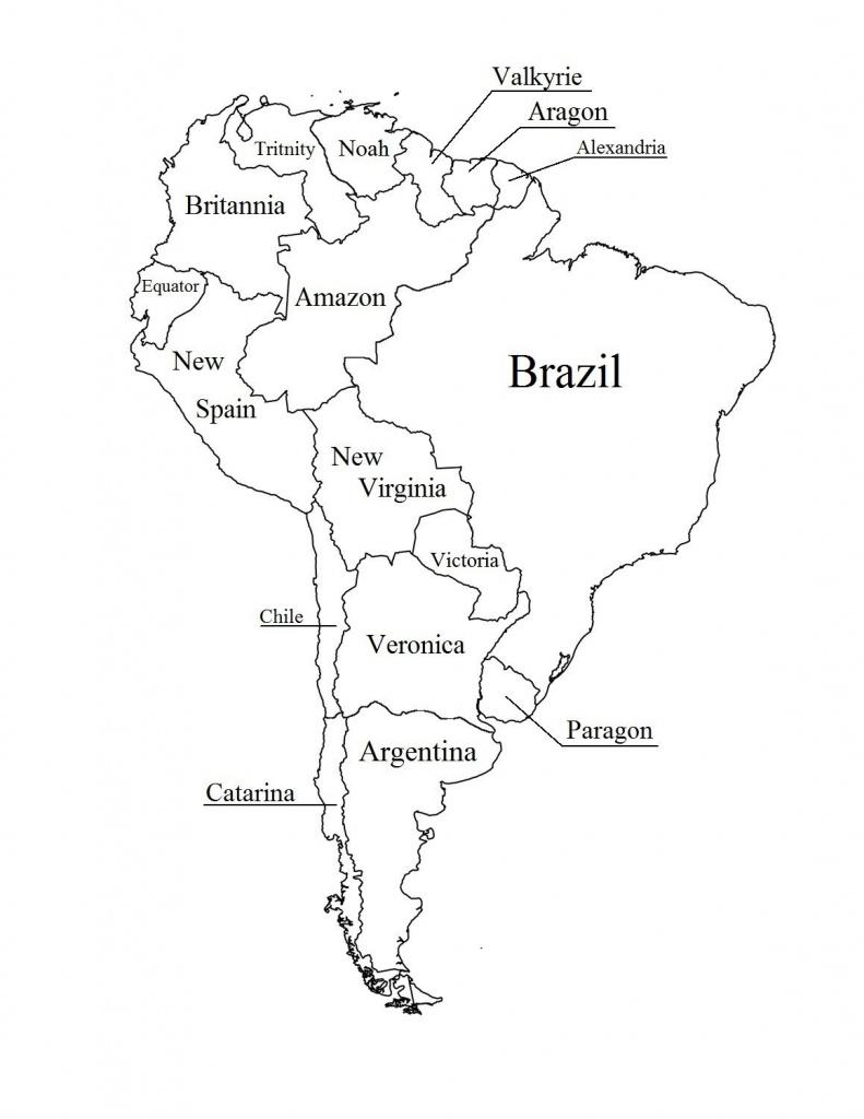 Latin America Printable Blank Map South Brazil Maps Of Within And - Printable Map Of Latin America