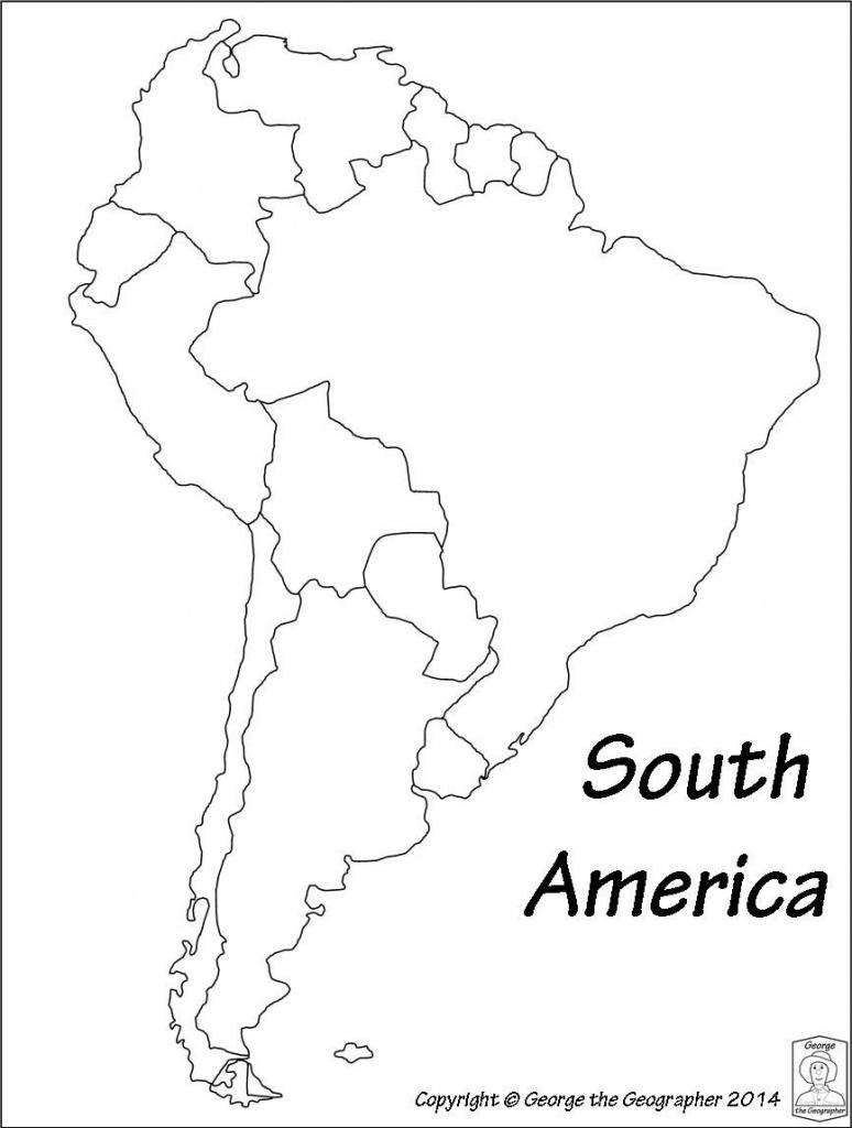 Latin America Printable Blank Map South Brazil Maps Of Within And - Printable Map Of South America
