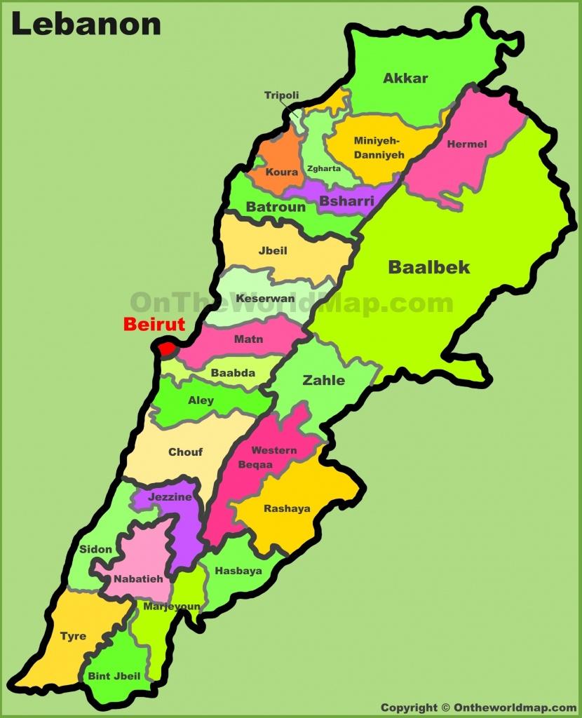 Lebanon Maps | Maps Of Lebanon - Printable Map Of Lebanon