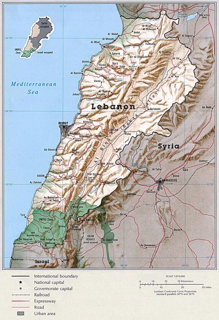 Lebanon Maps | Printable Maps Of Lebanon For Download - Printable Map Of Lebanon