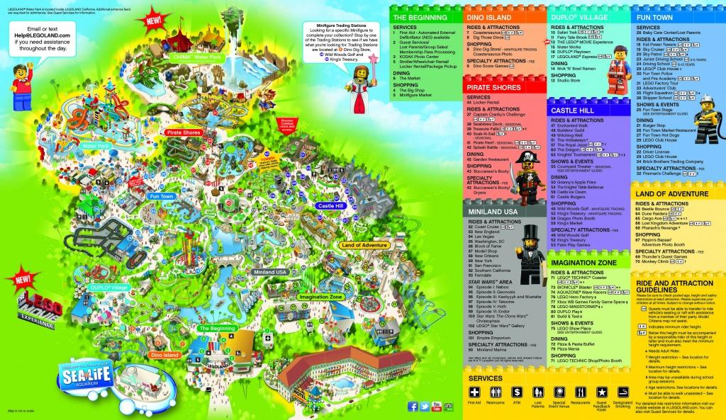 Legoland Hotel Resource Page - Legoland | Carlsbad, California - Legoland California Printable Map