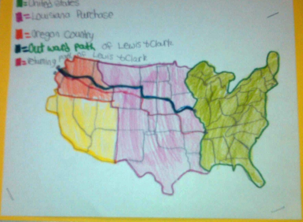 Lewis And Clark Activity | Printable File Folder Games, Other Fun - Lewis And Clark Printable Map