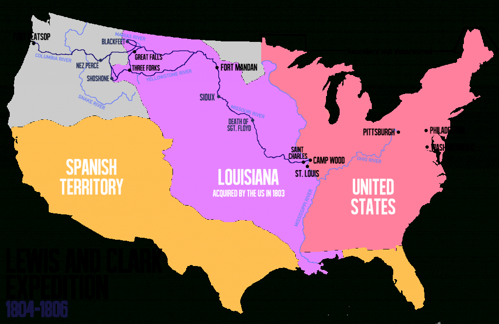 Lewis And Clark Expedition - Wikipedia - Lewis And Clark Expedition Map Printable