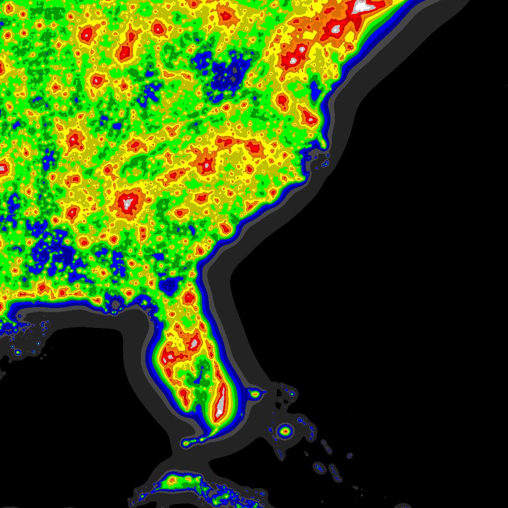 Light Pollution Map - Darksitefinder - Light Pollution Map Florida