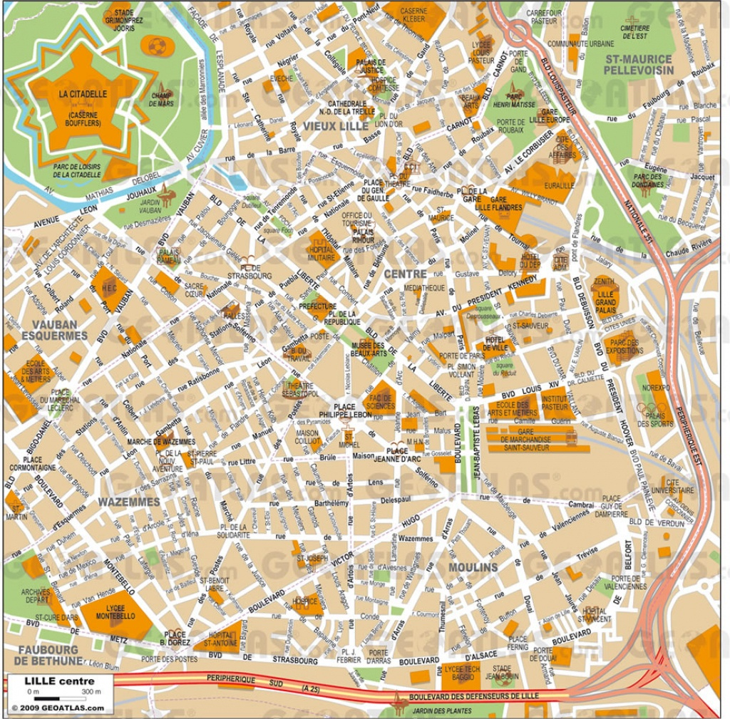 Lille Map - Printable Map Of Lille City Centre
