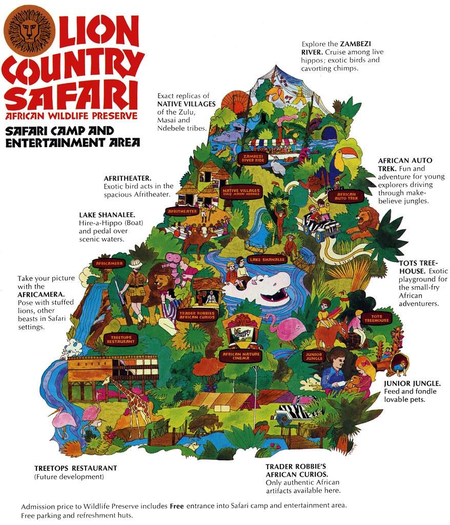 Lion Country Safari (197/8X) | Laguna Hills / Irvine / Los A… | Flickr - Lion Country Safari Florida Map