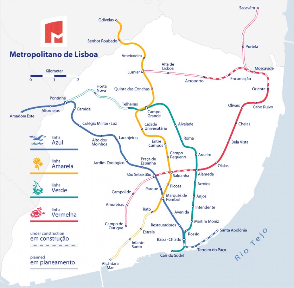 Lisbon Metro - The Fastest Way To Get Around Lisbon - Lisbon Metro Map Printable