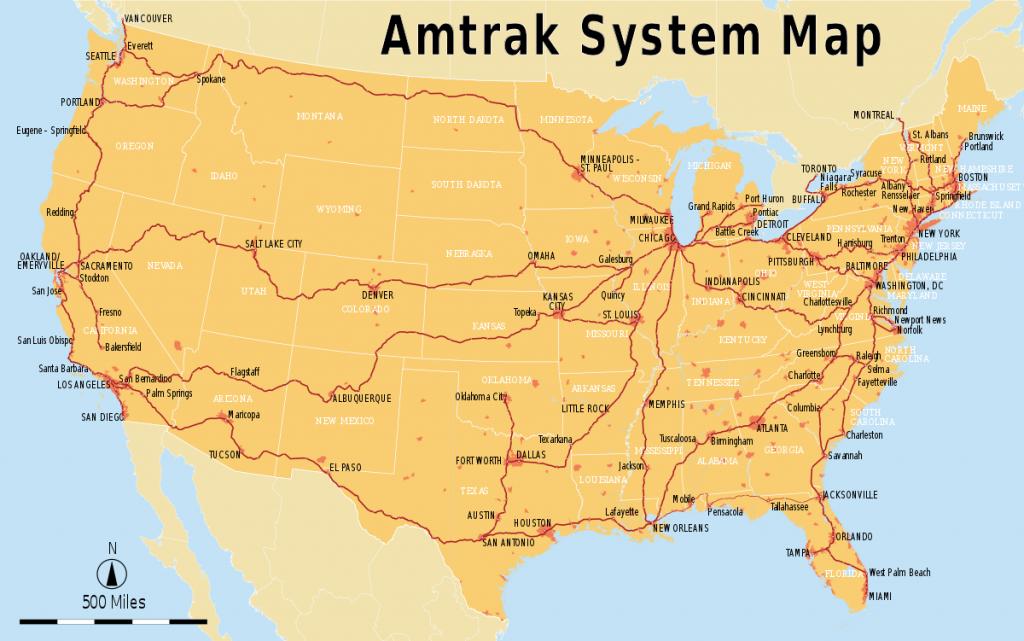 List Of Amtrak Routes - Wikipedia - Amtrak California Coast Map