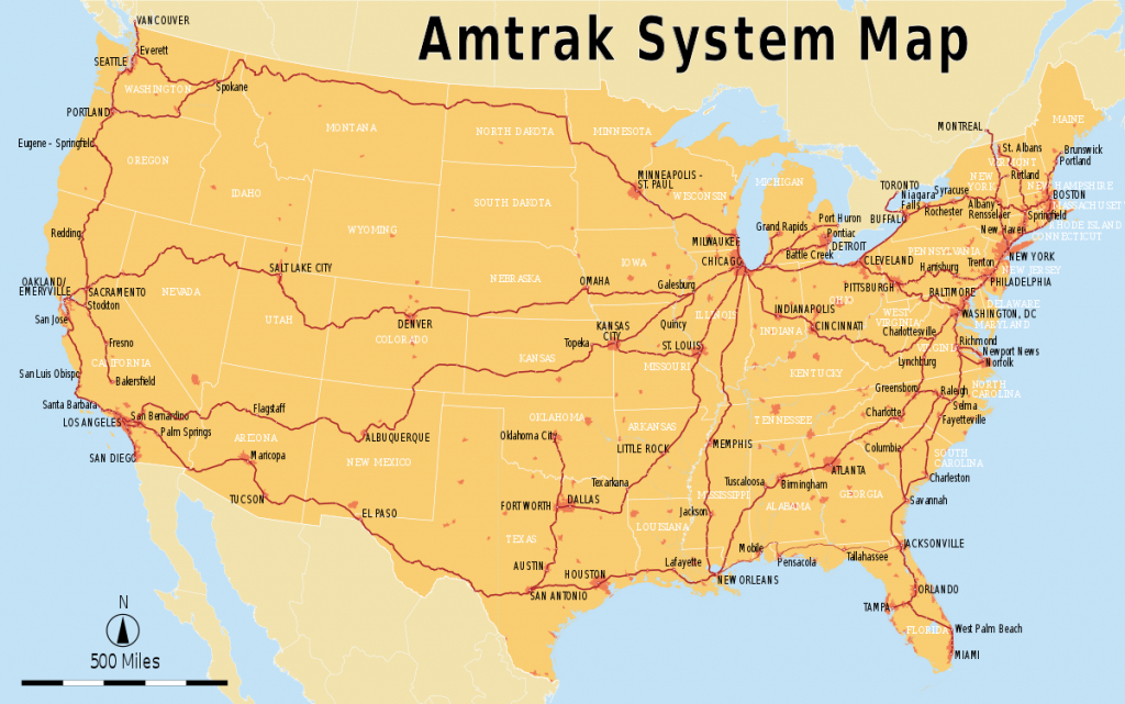 List Of Amtrak Routes - Wikipedia - Amtrak Train Map California