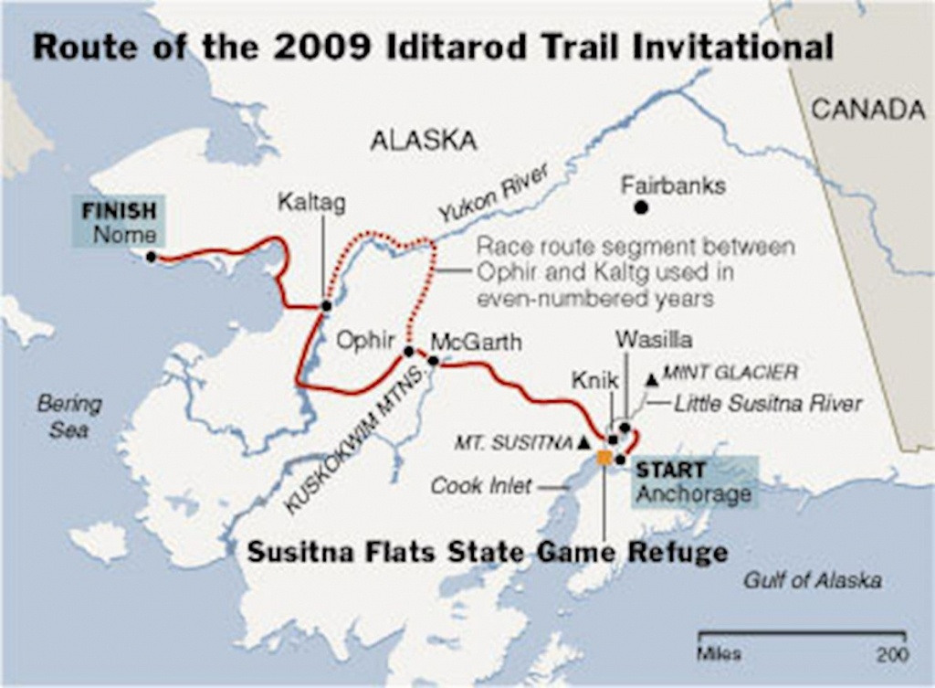 List Of Synonyms And Antonyms Of The Word: Iditarod Map - Printable Iditarod Trail Map