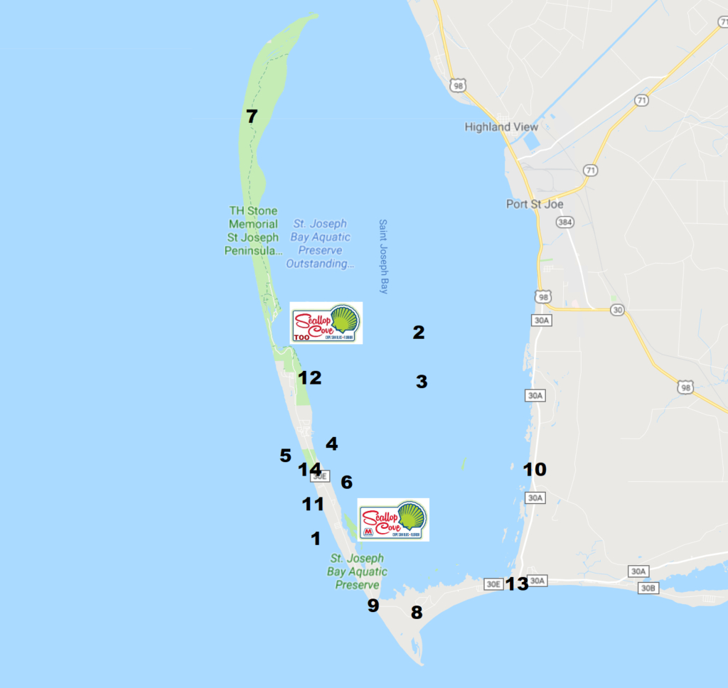 List Of Things To Do In Cape San Blas Florida With Map - St Joe Florida Map
