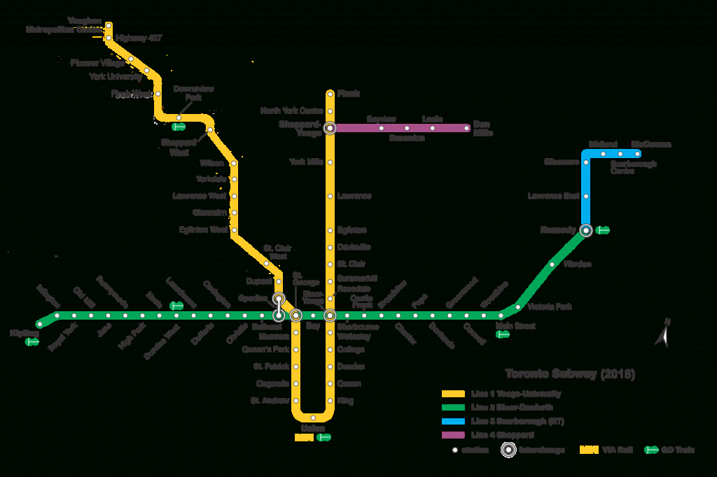 List Of Toronto Subway Stations - Wikipedia - Toronto Subway Map Printable