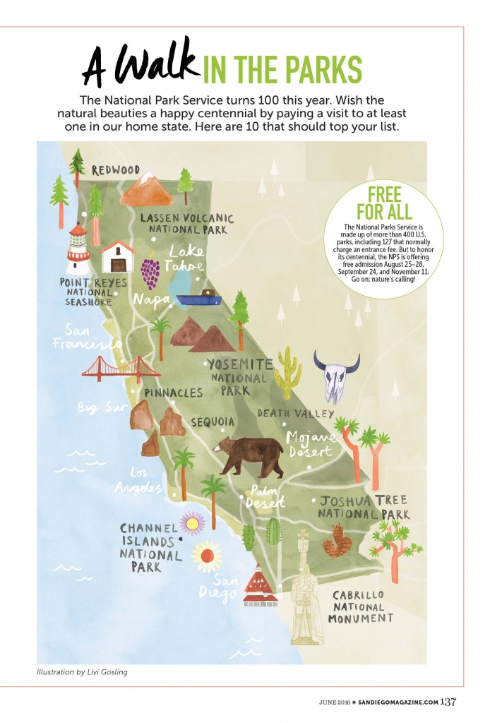 Livi Gosling - Map Of California National Parks | I'll Go Anywhere - Free Camping California Map