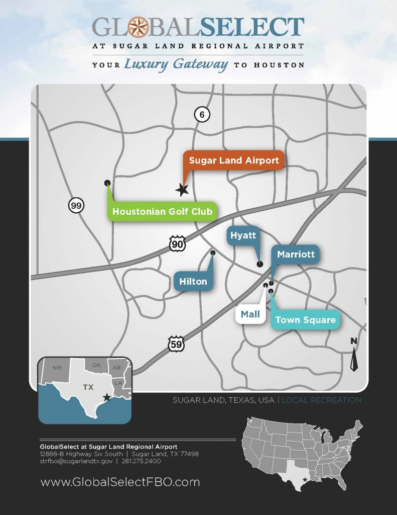 Local Area Map | Sugar Land Regional Airport - Sugar Land Texas Map
