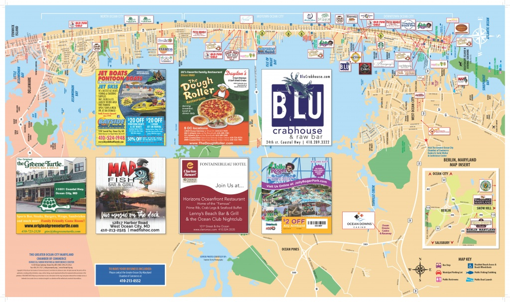 Local Maps | Ocean City Md Chamber Of Commerce - Printable Town Maps