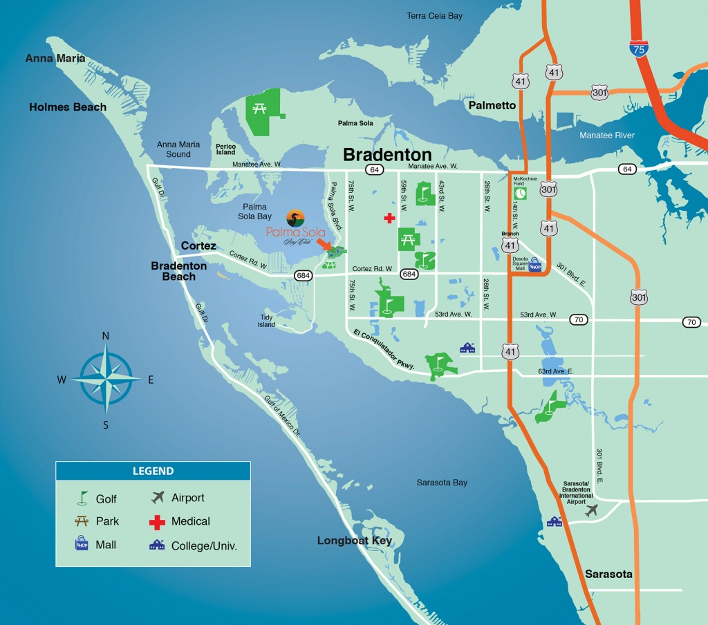 Location & Bradenton Fl Map - New Condominiums For Sale In Bradenton - Sarasota Florida Map Of Florida