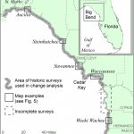 Location Map Of Florida Big Bend Marsh Coast On The Gulf Of Mexico   Mexico Florida Map