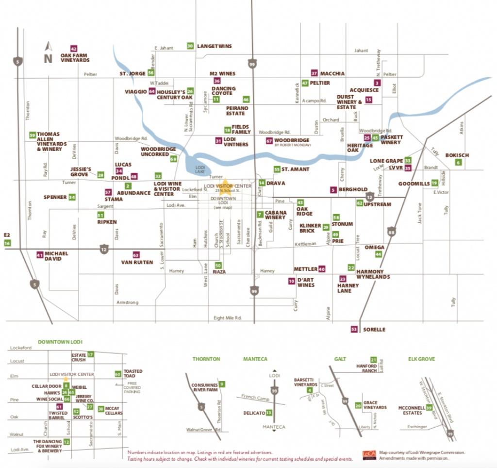 Lodi Winery Map & Wine Trail - Visit Lodi - California Wine Trail Map