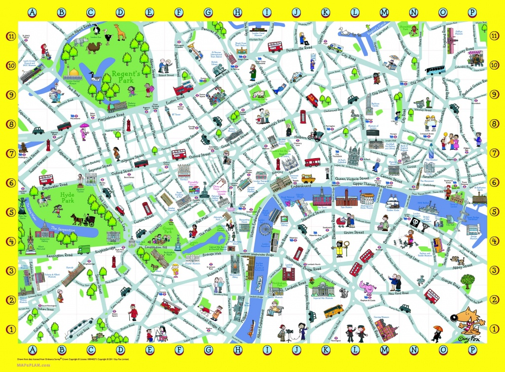 London Detailed Landmark Map   London Maps - Top Tourist Attractions - Printable Street Map Of Central London