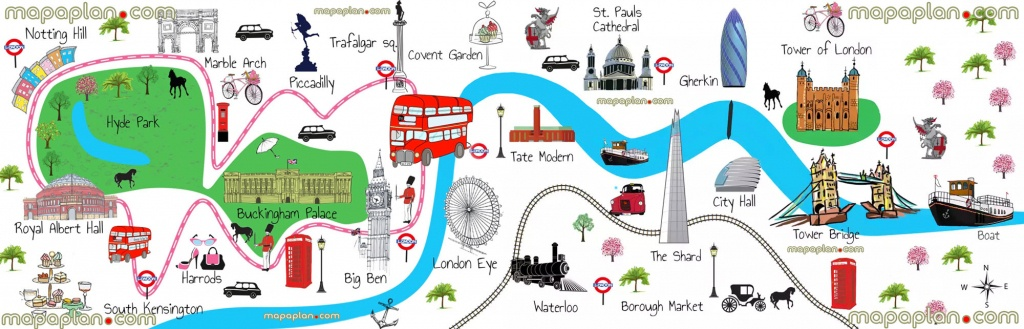 London Map - Download London Map For Children - Fun Things To Do - Printable Children's Map Of London