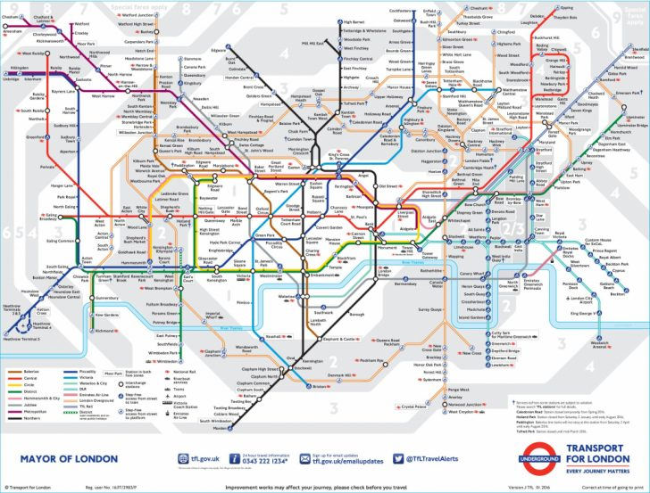 Central London Tube Map Printable