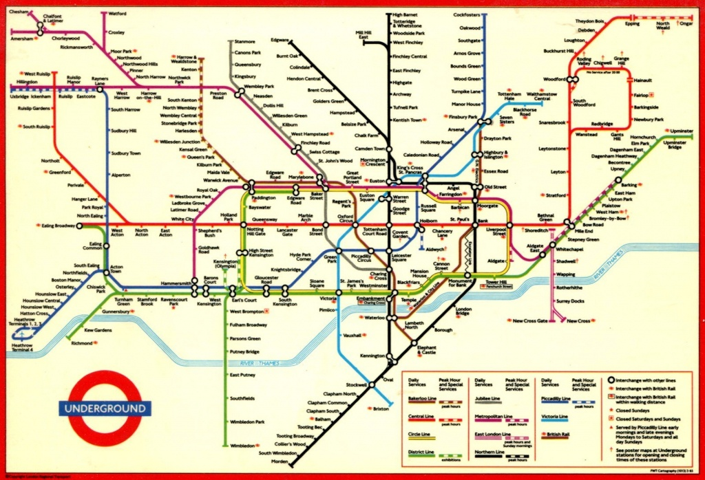 London Underground Map And Printable - Capitalsource - Printable Map Of The London Underground
