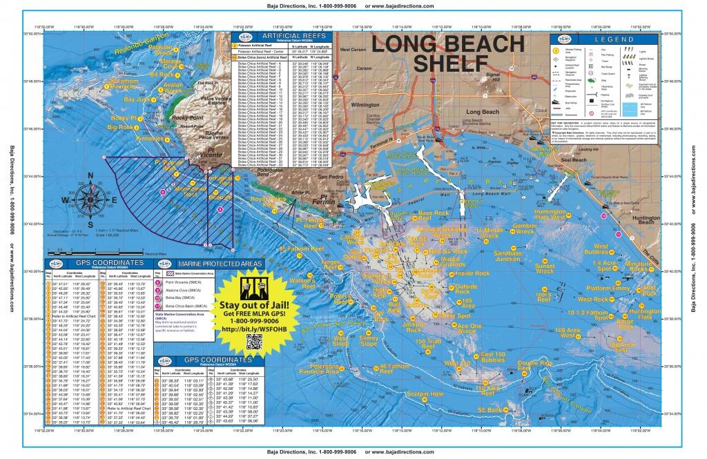 Long Beach Shelf - Baja Directions - Southern California Fishing Spots Map