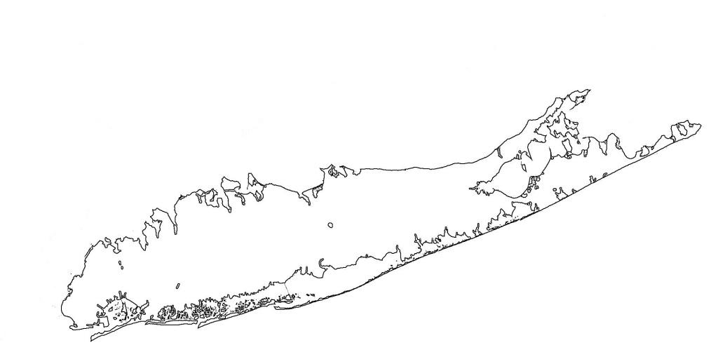 Long Island Blank Map - Map Of Long Island Blank (New York - Usa) - Printable Map Of Long Island Ny