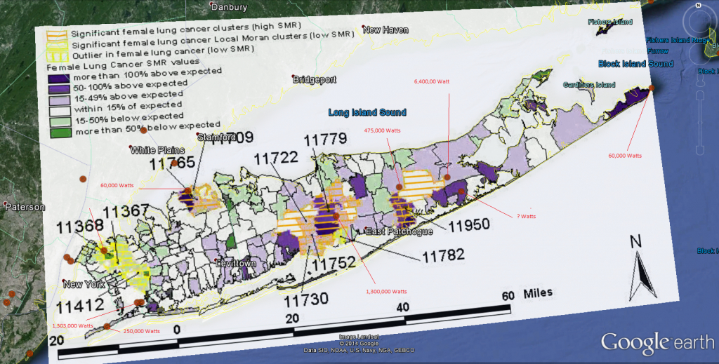 Long Island Cancer Clusters Revisited | Dark Matters A Lot - Map Of Cancer Clusters In Florida