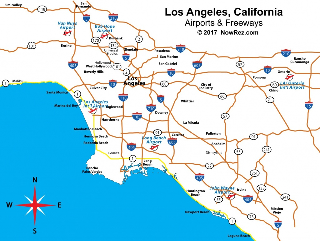 Los Angeles Freeway Map - City Sightseeing Tours - Map Of Southern California Freeway System